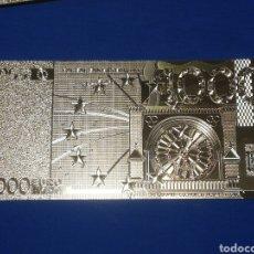 Banconote con errori: BILLETE DE 1000€ EN LAMINA DORADA. Lote 264271336