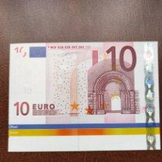 Banconote con errori: 10 EUROS ALEMANIA CON SOBRA PAPEL.FIRMA DUISENBERG. Lote 268132054