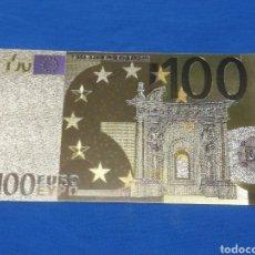 Billetes con errores: BILLETE 100€ EN LAMINA DORADA CON COLOR. Lote 269002994