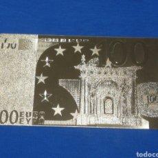 Billetes con errores: BILLETE DE 100€ EN LAMINA DORADA. Lote 269003304
