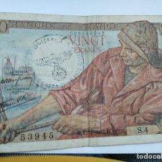 Billetes con errores: BILLETE SEGUNDA GUERRA MUNDIAL OCUPACIÓN ALEMANA DE FRANCIA. Lote 274276593
