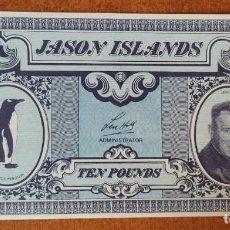 Billetes con errores: JASON ISLANDS. 10 LIBRAS. BILLETE DE FANTASÍA!!!. Lote 275061223
