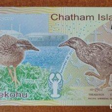 Billetes con errores: ISLAS CHATHAM. 1 KOHA. BILLETE DE FANTASÍA!!. Lote 275061523