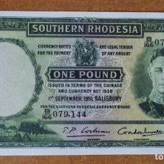 Billetes con errores: SOUTH RHODESIA. 1 LIBRA 1951. REPRODUCCIÓN!!. Lote 275086673