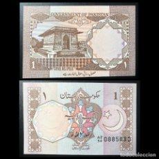 Billetes con errores: BILLETE 1 RUPIA PAKISTAN CAPICUA. Lote 277062023
