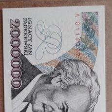 Billetes con errores: BILLLETE POLONIA 2.000.000 ZŁ/ ERROR/ SERIE A ALTO VALOR CATALOGO !!. Lote 278479578