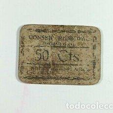 Billetes con errores: RARO BILLETE 50 CÉNTIMOS BEGIJAR JAÉN GUERRA CIVIL ESPAÑOLA.. Lote 295371493