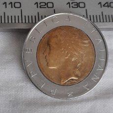 Billetes con errores: ERROR ACUÑACIÓN, MONEDA 500 LIRAS ITALIA 1985 R. VER FOTOGRAFÍAS Y DESCRIPCIÓN.. Lote 296629543