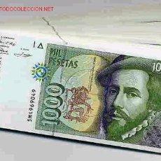 Billetes españoles: 2 BILLETES PAREJA 1000 PESETAS 1992 PLANCHA CORRELATIVOS. Lote 46468416