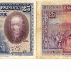 Billetes españoles: BILLETE DE 25 PESETAS. Lote 21589050