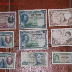 Billetes españoles: LOTE DE BILLETES. Lote 19398748