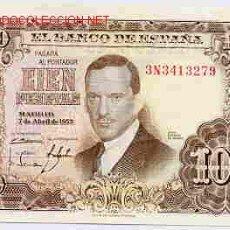 Billetes españoles: BILLETE 100 PESETAS 1953 MBC+ , SERIE 3N , T279. Lote 24502353