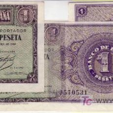 Billetes españoles: 241-1 PESETA 1938 PAREJA CORRELATIVA PLANCHA. Lote 22167478