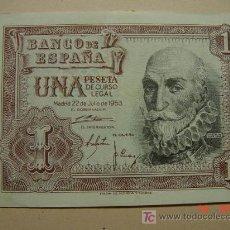 Billetes españoles: 763 MARQUES DE SANTA CRUZ BILLETE DE UNA PESETA AÑO 1953 SERIE A - C&C. Lote 6045086