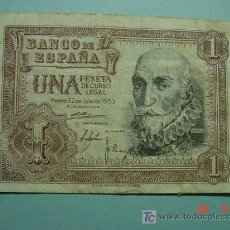 Billetes españoles: 3043 MARQUES SANTA CRUZ BILLETE 1 PESETA ESTADO ESPAÑOL AÑO 1953 COSAS&CURIOSAS. Lote 25913587