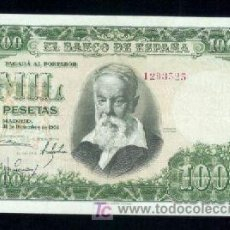 Billetes españoles: 1000 PTS 1951 SOROLLA SIN SERIE EBC EXCEPCIONAL. Lote 6329999