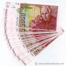 Billetes españoles: 2 BILLETES PAREJA CORRELATIVA 2000 PESETAS 1992 PLANCHA CON SERIE SEGUNDO MODELO ORIGINAL RB. Lote 46551335