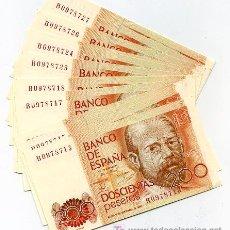 Banconote spagnole: PAREJA BILLETES 200 PESETAS 1980 CORRELATIVOS EBC CUALQUIER SERIE. Lote 22123533