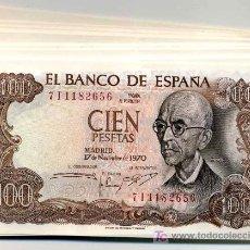 Billetes españoles: PAREJA 2 BILLETES 100 PESETAS 1970 SIN CIRCULAR CORRELATIVOS CON SERIE, CUALQUIER SERIE . Lote 75118105