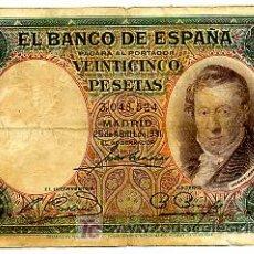 Billetes españoles: BILLETE 25 PESETAS 1931 BC SIN SERIE T524. Lote 24043917