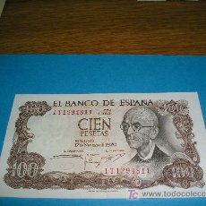 Billetes españoles: **BILLETE DE 100 PTAS (PLANCHA)---MANUEL DE FALLA 1970---**. Lote 16000881