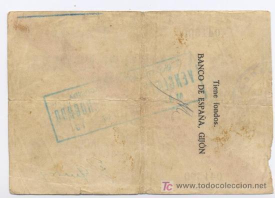 Billetes españoles: GIJON- 100 PESETAS-05-11-1936 - Foto 2 - 5561280