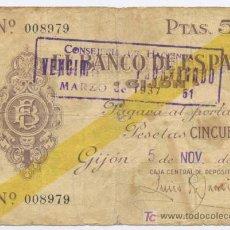 Billetes españoles: GIJON- 50 PESETAS-05-11-1936. Lote 5561289