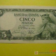 Billetes españoles: 1201 ESPAÑA SPAIN BILLETE 5 PTAS ALFONSO X AÑO 1954 - MAS EN MI TIENDA COSAS&CURIOSAS. Lote 6715877