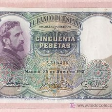 Billetes españoles: CINCUENTA PTAS.. Lote 27015663