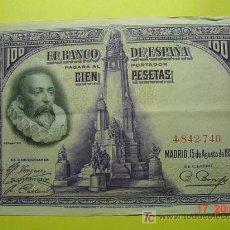 Billetes españoles: 1304 ESPAÑA SPAIN BILLETE DE 100 PESETAS AÑO 1928 SIN SERIE MAS EN MI TIENDA COSAS&CURIOSAS. Lote 6257258