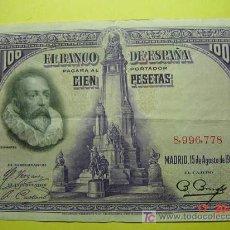 Billetes españoles: 1305 ESPAÑA SPAIN BILLETE DE 100 PESETAS AÑO 1928 SIN SERIE MAS EN MI TIENDA COSAS&CURIOSAS. Lote 10808492