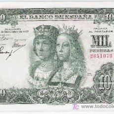 Billetes españoles: SIN SERIE...........EBC............1000 PTS 1957.............DIFICIL SIN SERIE. Lote 6155358