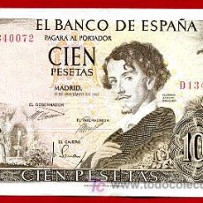Billetes españoles: BILLETE 100 PESETAS 1965 , MBC , SERIE D , T072. Lote 19742934