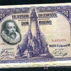 Billetes españoles: LOTE DE 10 BILLETES 100 PESETAS 1928 MBC , REPUBLICA .. Lote 218296835