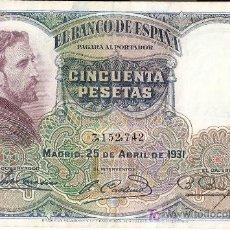 Billetes españoles: LOTE DE 12 BILLETES DE 50 PESETAS DE ROSALES. Lote 9590214