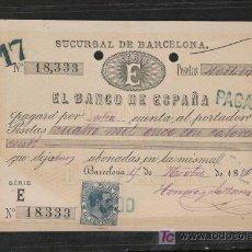 Billetes españoles: DINERO DEL BANCO DE ESPAÑA DE 1886 EL DE LA FOTO . Lote 21972334