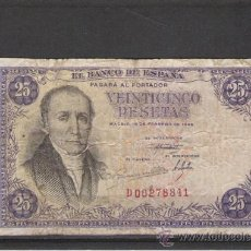 Billetes españoles: BILLETE DE 25 PTS. DE 1946. Lote 20717047
