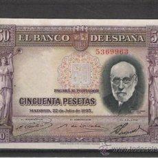 Billetes españoles: BILLETE DE 50 PTS. DE 1935. Lote 7955377