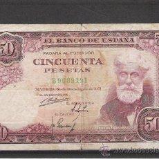Billetes españoles: BILLETE DE 50 PTS. DE 1951. Lote 20610363