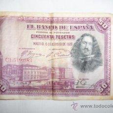 Billetes españoles: BILLETE DE 50 PESETAS. Lote 27602591