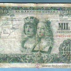 Billetes españoles: ESPAÑA. 1000 PESETAS EMISION 29 DE NOVIEMBRE DE 1957. BILLETE Nº 1Y3255447. Lote 27161632