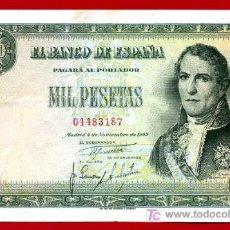 Billetes españoles: BILLETE 1000 PESETAS 1949 , MBC++ , SIN SERIE , T187. Lote 24074309