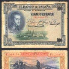 Billetes españoles: ESPAÑA BILLETE DE 100 PESETAS JULIO 1925 BC+ .FELIPE II .. Lote 9093559