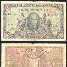 Billetes españoles: ESPAÑA BILLETE DE 100 PESETAS ENERO DE 1940 .CRISTOBAL COLON .RARO. Lote 26991919