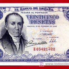 Billetes españoles: BILLETE 25 PESETAS 1946 , EBC , SERIE E , T322. Lote 23610123