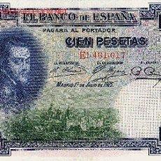 Billetes españoles: BILLETE ESPAÑA 100 PESETAS 1 JULIO 1925. Lote 1432054