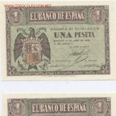 Billetes españoles: 400- 1 PESETA- 30/04/1938. Lote 1780427