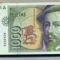 Billetes españoles: LOTE 10 BILLETES 1992 PLANCHA ¡¡¡ OJO SIN SERIE ¡¡¡ CORRELATIVOS PLANCHA. Lote 25712662