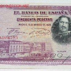 Billetes españoles: 42 BILLETES DE - CINCUENTA PESETAS - BANCO DE ESPAÑA - AÑO 1928. Lote 26184785