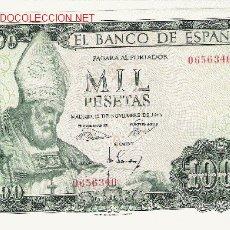 Billetes españoles: SIN SERIE 1000 PTS 1965 MEJOR QUE EBC. Lote 2432801
